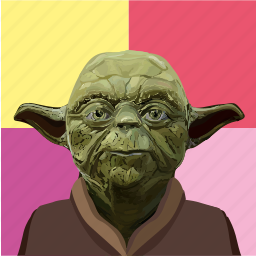 art, painting, pop, popart, star, wars, yoda icon