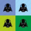 darth, head, helmet, popart, weider, worhall icon
