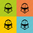 droid, helmet, painting, popart, star, wars, worhall icon