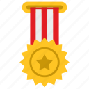 army, award, hero, medal, military, sign, star icon