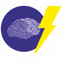 brain, brainstorm, idea, mind, shock, think icon