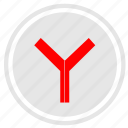 browser, program, round, russian, search, y, yandex icon