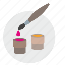 brush, color, draw, paint, palette icon