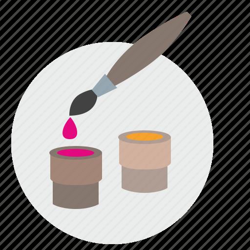 brush, color, draw, paint, palette icon