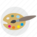 art, brush, color, draw, palette icon