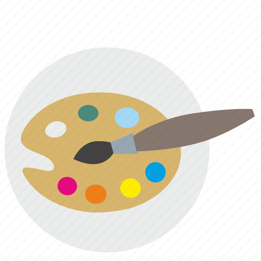 art, brush, color, draw, palette icon