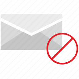 access, cancel, condition, letter, mail, mailbox icon