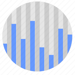 chart, data, economic, info, round icon