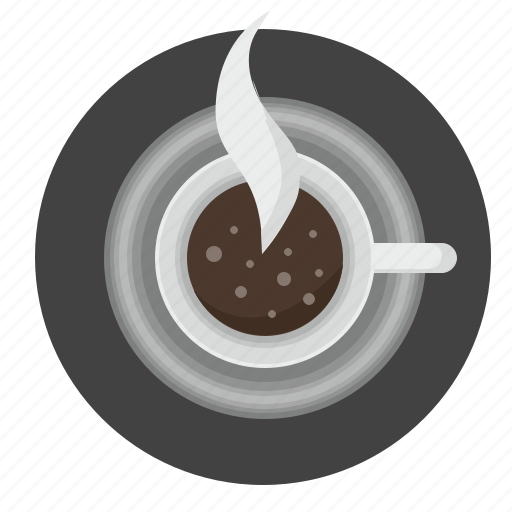 barista, coffee, cup, drink, hot, top, view icon