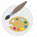 brush, color, draw, palette icon