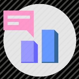 chart, comment, data, economic, report icon
