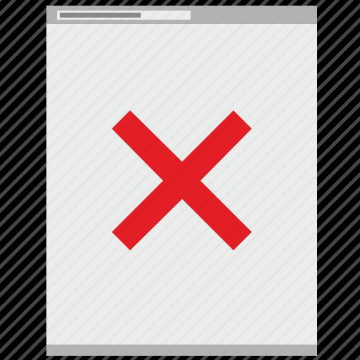 browser, cancel, close, delete, page icon