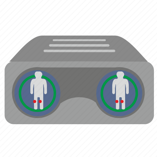 body, device, dot, health, pain, scan, view icon