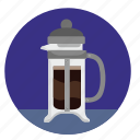 barista, coffee, dishes, drink, glass, pot icon