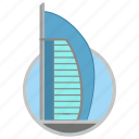 building, dubai, hotel, place, skyscraper icon
