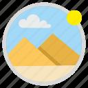 desert, egypt, sahara, south, tourism, travel icon