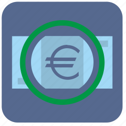cash, detect, euro, money, scanner icon