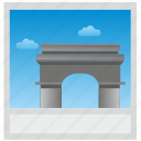 france, paris, photo, polaroid icon