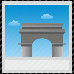 france, paris, photo, polaroid icon