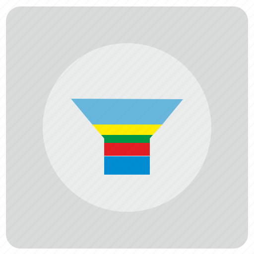 chart, economic, funnel, preview, view, visual, visualization icon