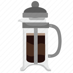 barista, coffee, dishes, drink, glass, hot, pot icon