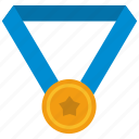 champion, gold, medal, sport, star, winner icon