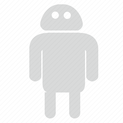 android, gray, mobile, platform, robot icon