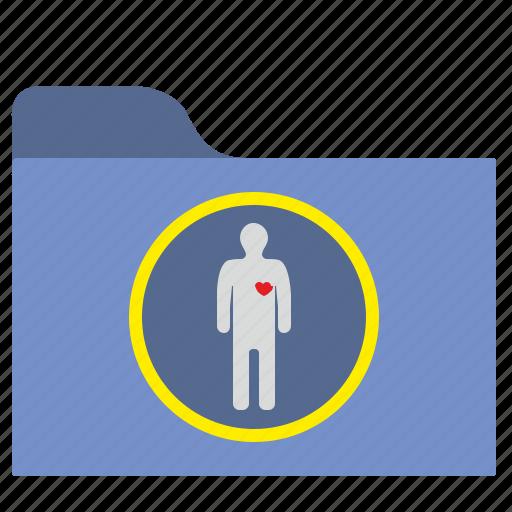 body, file, folder, health, heart, history, hospital icon