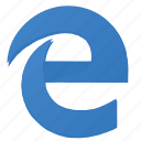 browser, e, explorer, internet, letter, ms, view icon