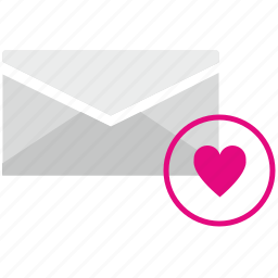 letter, like, love, message, operation icon