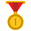 first, gold, medal, one, place, winner icon
