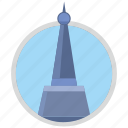 building, modern, place, tourism, tower, travel icon