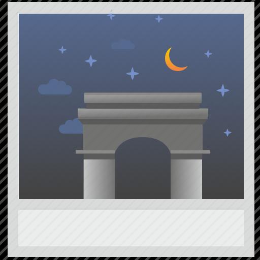 france, night, paris, photo, polaroid, sky icon