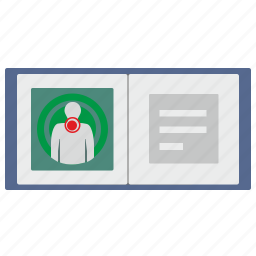 book, health, history, hospital, man, open icon
