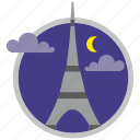 france, paris, place, tourism, tower, travel icon