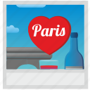 france, paris, photo, polaroid, romantic icon