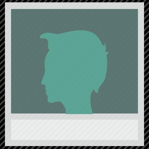 boy, face, photo, polaroid, profile icon