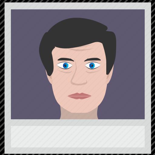 avatar, boy, face, man, photo, polaroid, skin icon