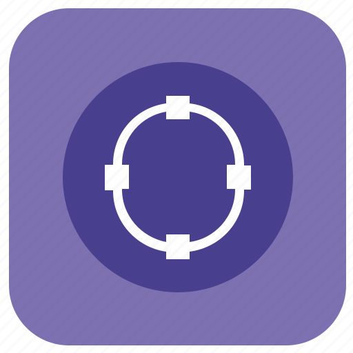 app, circle, curve, line, oval, program, transform icon