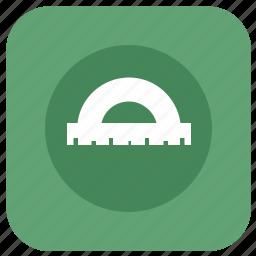 angle, app, architecture, graphics, measure, protractor icon
