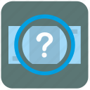 bank, error, money, quest, question icon