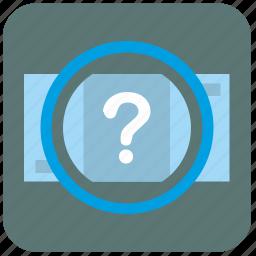 bank, error, money, quest, question icon