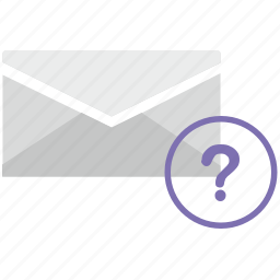 author, letter, mail, mailbox, message, question, unknown icon