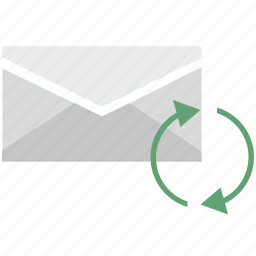 letters, mail, mailbox, operation, reload icon