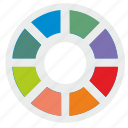 choose, color, palette, round icon