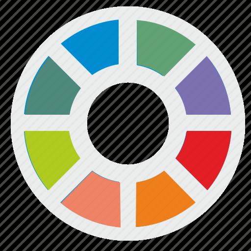choose, color, loader, loading, palette, round icon