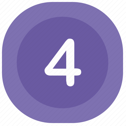 atm, four, number, rounded, square icon