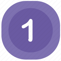 atm, first, number, one, rounded, square icon
