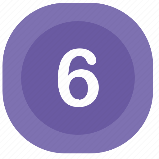 atm, number, rounded, six, square icon