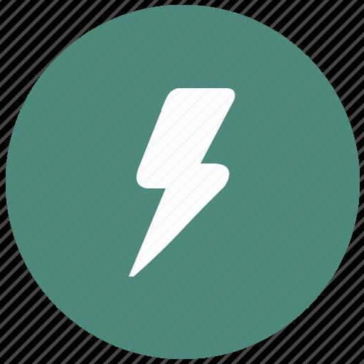 electric, electricity, error, flash, shock icon